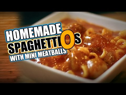 Homemade Spaghetti O's with Mini Meatballs Recipe   HellthyJunkFood