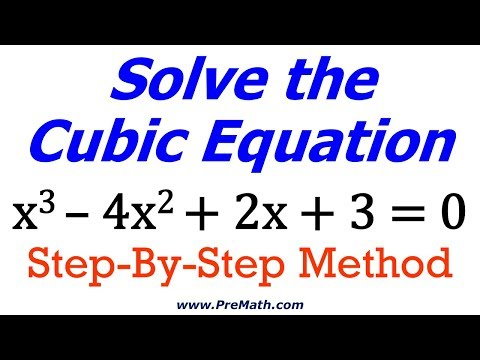 Solve Cubic Equations - Synthetic Division Method