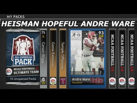 #NFUT | 15 All American Bundle Opening Part 2 | Andre Ware Heisman Hopeful & More