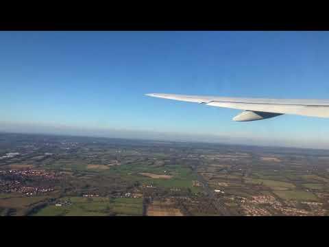 Take off of British Airways, BA2069 from London Gatwick ~ LGW to MRU,  Mauritius, Boeing 777, G-YMMR