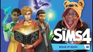 I'M A WIZARD HARRY! | SIMS 4 REALM OF MAGIC LIVE STREAM