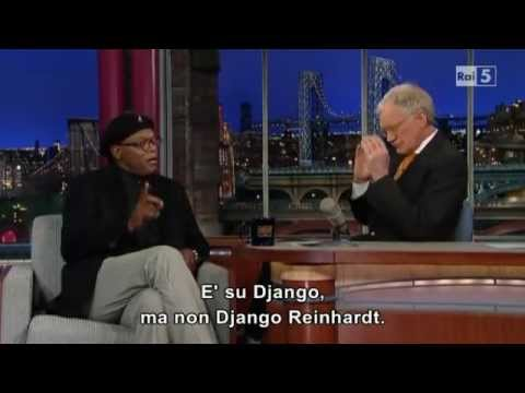 2012 12 Late Show   Samuel L  Jackson about Django Unchained (sub ITA)