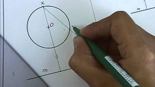 Circunferencia tangente a una recta y a una circunferencia - Homotecia 1