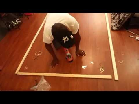 HOW TO BUILD A EASY FRAME FOR A FIX PROJECTION SCREEN IN 10 MINUTES OR LESS!