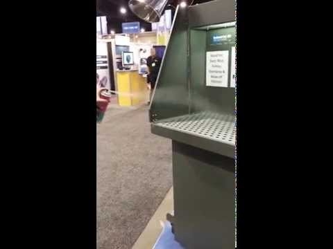 Downdraft Booth Portable Fume Collection Demonstration by Industrial Air Solutions, Inc.