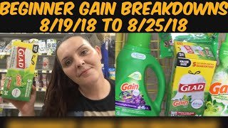 In Store Gain Breakdowns For Dollar General This Week 8/19/18 to 8/25/18