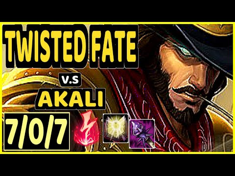DOPA (APDO) (TWISTED FATE) vs AKALI - 7/0/7 KDA MID CHALLENGER GAMEPLAY - KR