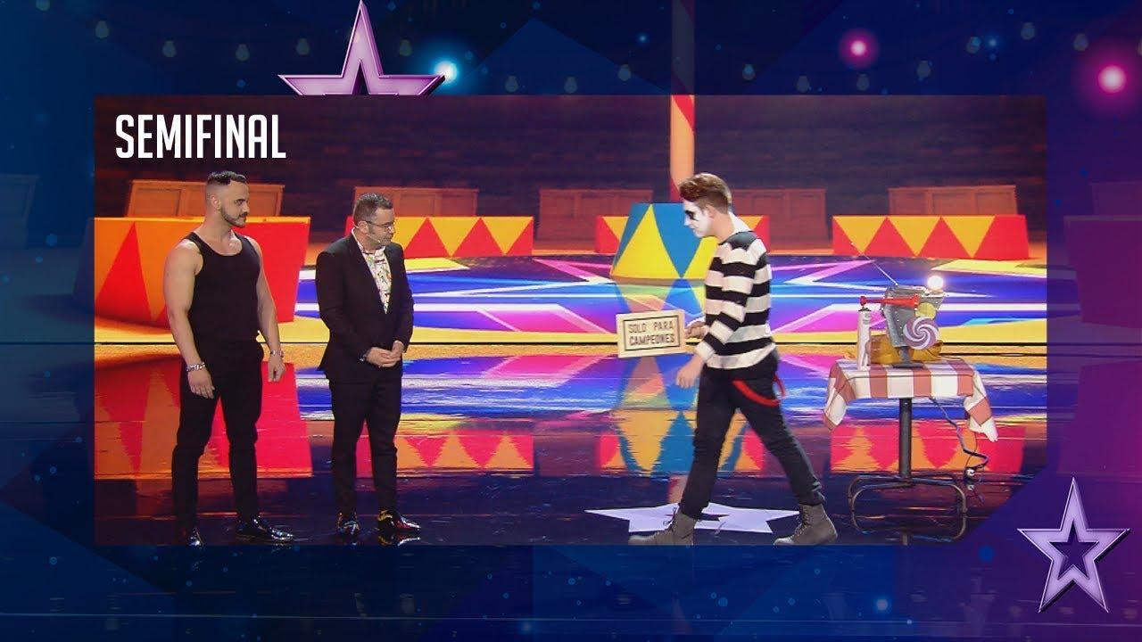 Este mimo enfada a Jorge Javier colándole en su actuación   Semifinal 2   Got Talent España 2018