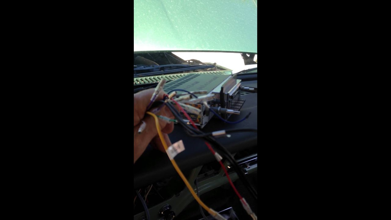 1971 Ford F250 Stereo And Speaker Install 2 24 2016 010 Youtube 77 Pickup Wire Diagram