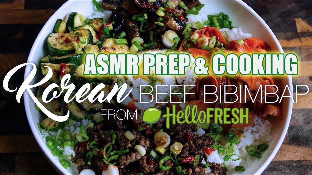 Asmr Hello Fresh Cooking Korean Beef Bibimbap Youtube