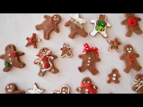 Gingerbread Men Ornaments Made With Cinnamon Salt Dough