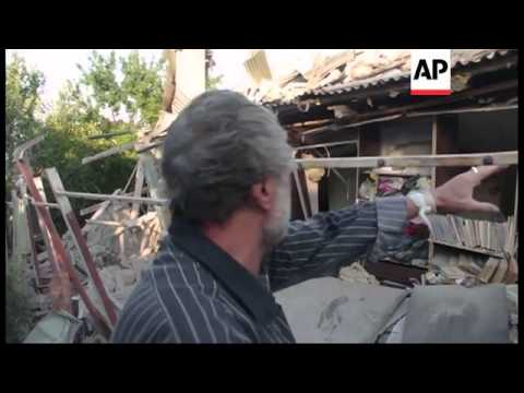 Aftermath of fighting as Ukrainian troops seek to encircle rebel-held city of Donetsk