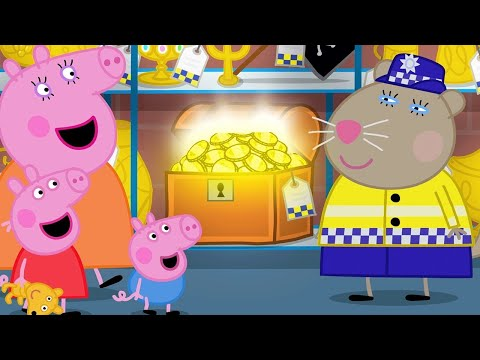 Peppa Pig Is Looking For The Missing Dinosaur At The Police Station | Peppa Pig Official Channel
