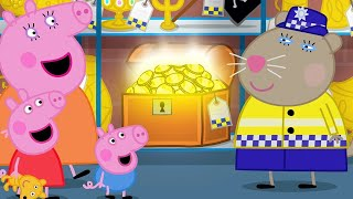 Peppa Pig is Looking for the Missing Dinosaur at the Police Station   Peppa Pig Official Channel