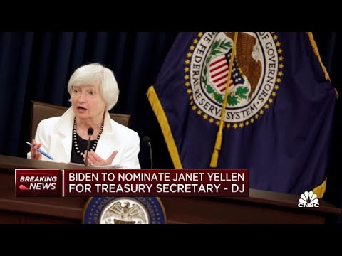 Biden to nominate Janet Yellen as US treasury secretary