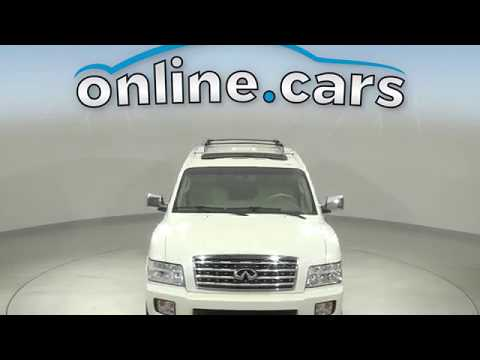 R12808KT Used 2010 INFINITI QX56 4WD White SUV Test Drive, Review, For Sale