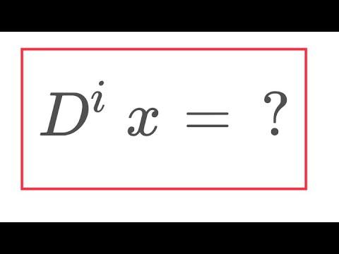 Imaginary derivative of x