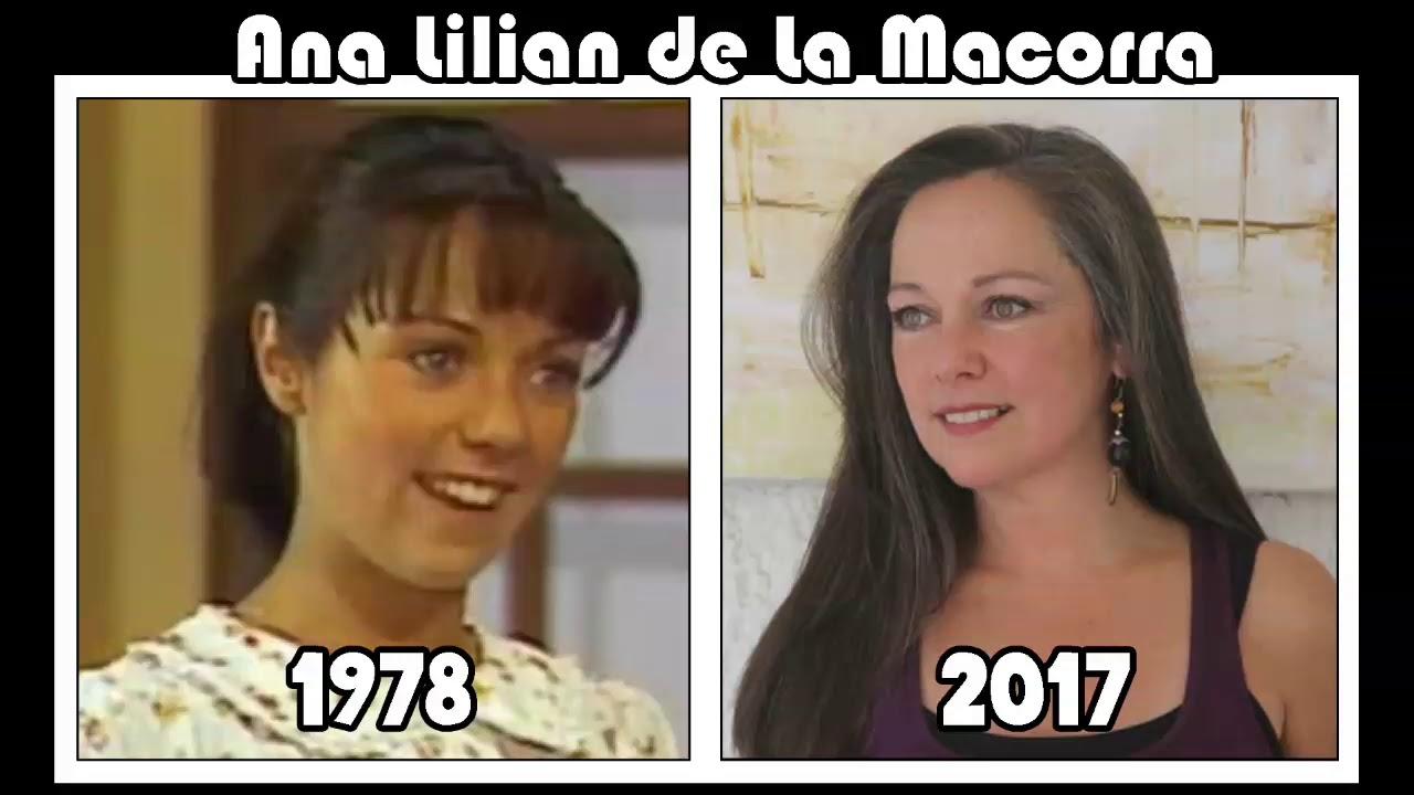 Ana Lilian De La Macorra presonajes del chavo antes y despues - youtube