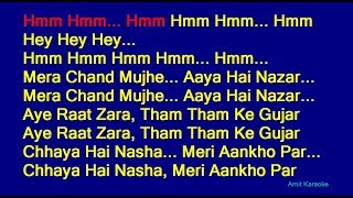 Mera Chand Mujhe Aaya Hai Nazar - Kumar Sanu Hindi Full Karaoke with Lyrics