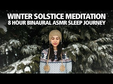 WINTER SOLSTICE SLEEP MEDITATION 8 Hours of Binaural Stress Relief Mus…