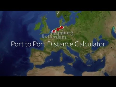 Aquaplot : Calculate distance between ports