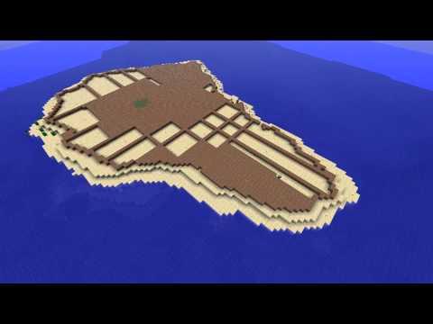 Minecraft volcanic Island