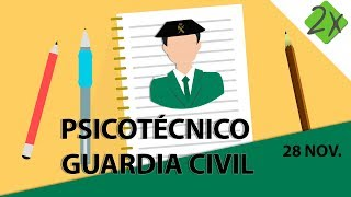 Psicotécnico Guardia Civil explicado