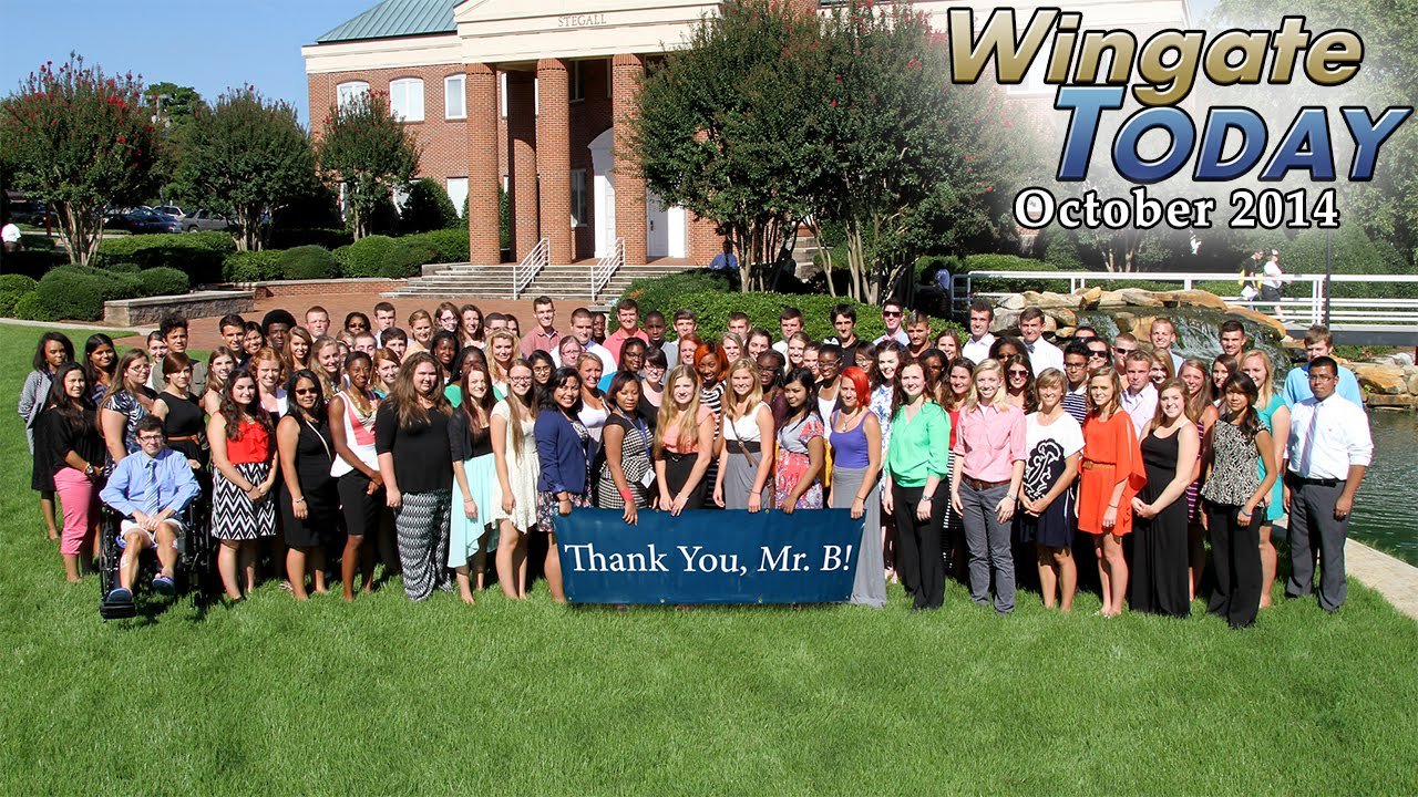 Wingate university wingate today october 2014 youtube for The wingate