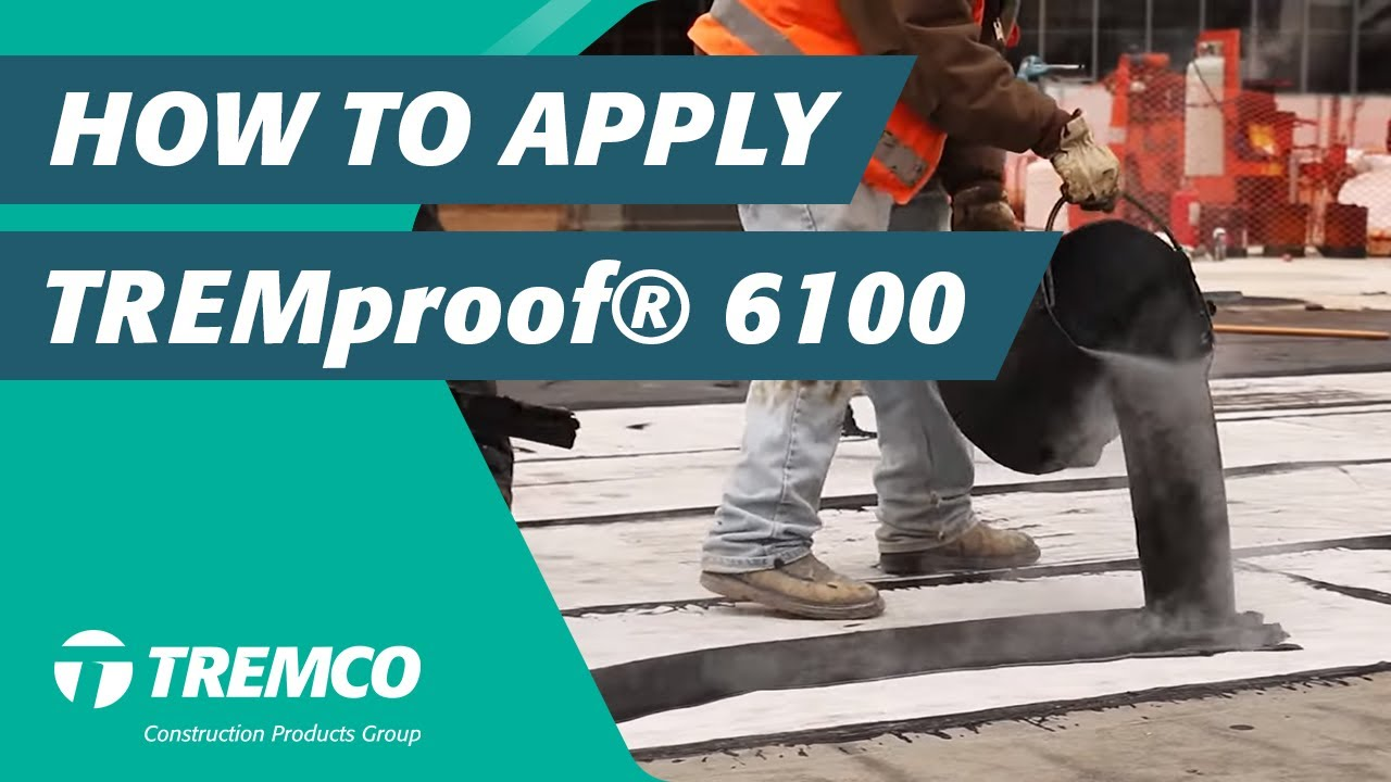 How To Apply Tremproof 174 6100 Hot Applied Waterproofing