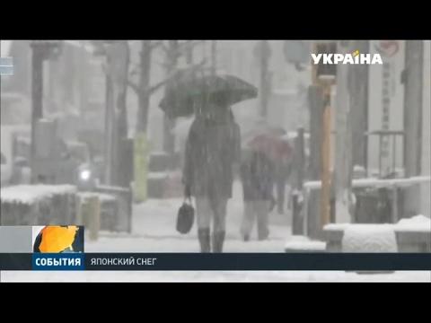 На Японию обрушились сильные снегопады