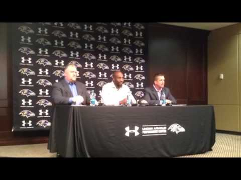 John Harbaugh, Don Martindale and Elvis Dumervil speak
