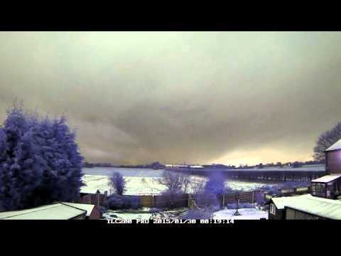 29th/30th January 2015 time-lapse: Snow and polar low