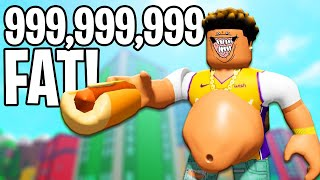 I ate EVERYTHING and got 999,999,999 FAT in Roblox MUNCHING MASTERS!