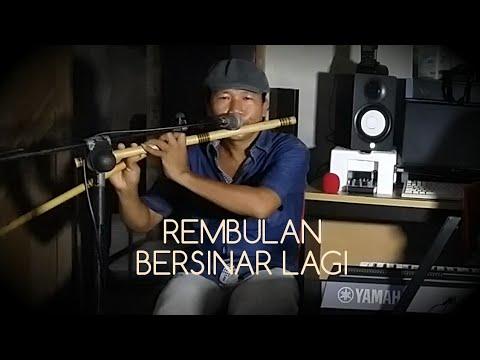 REMBULAN BERSINAR LAGI - KARAOKE FULL LIRIK - SERULING ASLI