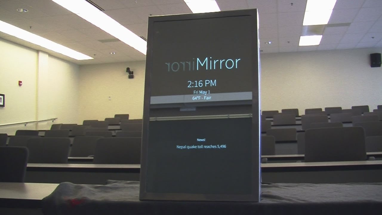 Invention could change the way you look in a mirror youtube for Invention miroir