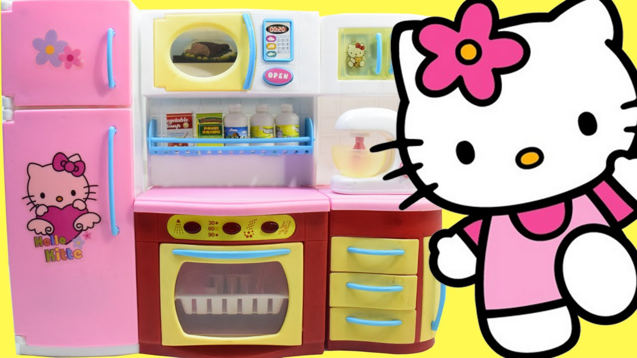 Kid Kitchens Kitchen And Bathroom Resurfacing Toy Hello Kitty Cooking Toys Playset For Kids By Haus Youtube