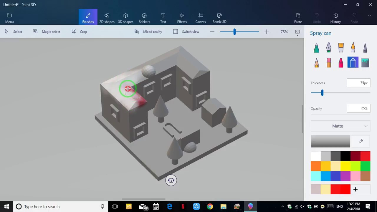 Make 3D Home Layout With Paint 3D Just In 6 Min - YouTube