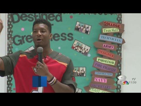 Jameis Winston to elementary school: Ladies