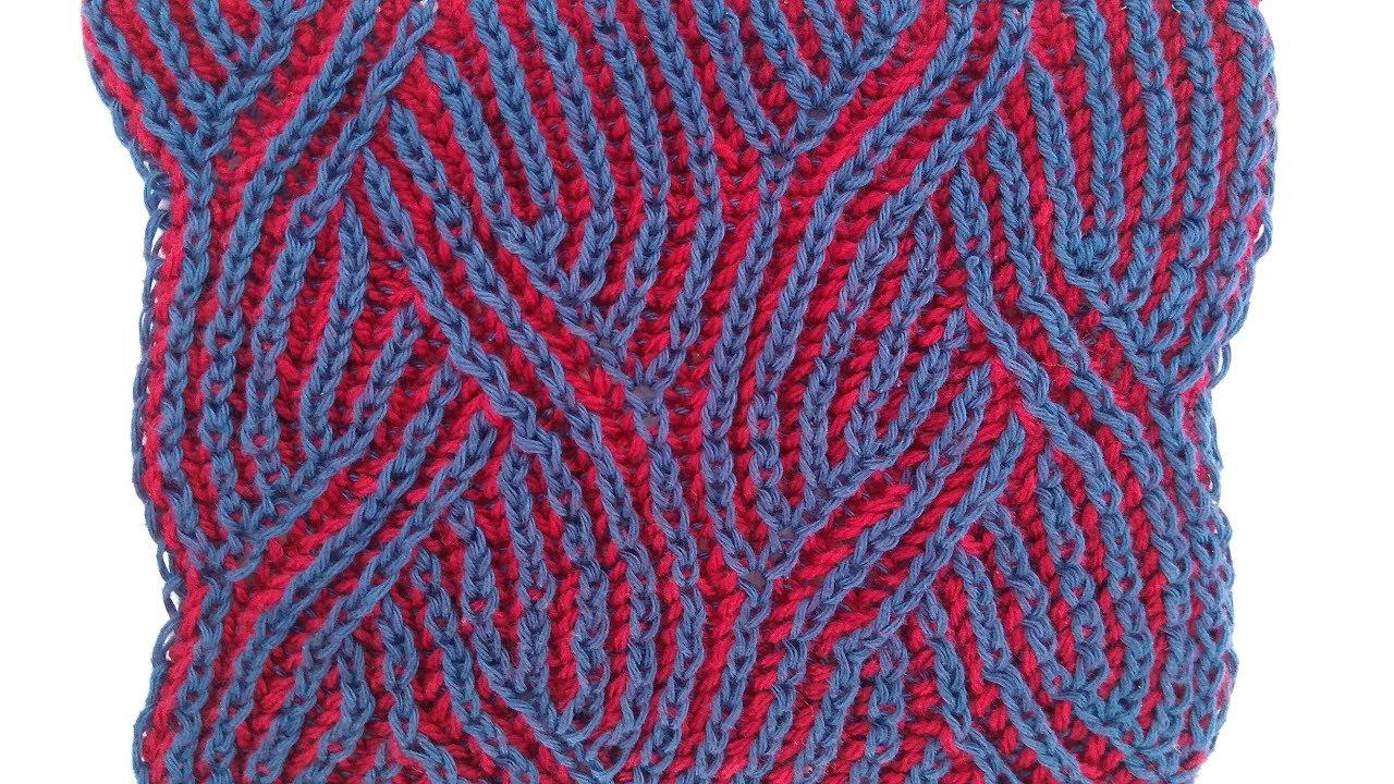 Braids, two-color brioche stitch knitting pattern + free ...