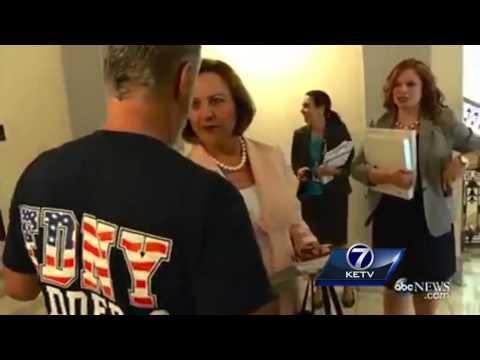 Jon Stewart chases down Senator Deb Fischer