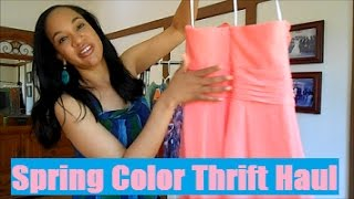Spring COLOR Thrift Haul: The Time I Thrifted More Than Black