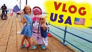 ВЛОГ Парк Развлечений АМЕРИКАНСКИЕ горки Американская ЕДА Отрываемся ! PLAYGROUND Fun in Pool