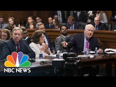 Sen. Lindsey Graham And Sen. Patrick Leahy Clash On Reasons For Committee Absences | NBC News