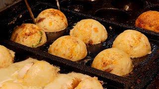 giant-takoyaki-the-size-of-a-baseball-taiwanese-street-food