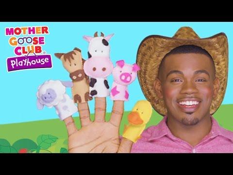 Animal Sounds   Old MacDonald Had A Farm   Mother Goose Club Playhouse Kids Video