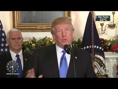Trump Reconhece Jerusalém Como Capital De Israel E Causa Polêmica | SBT Brasil (06/12/17)
