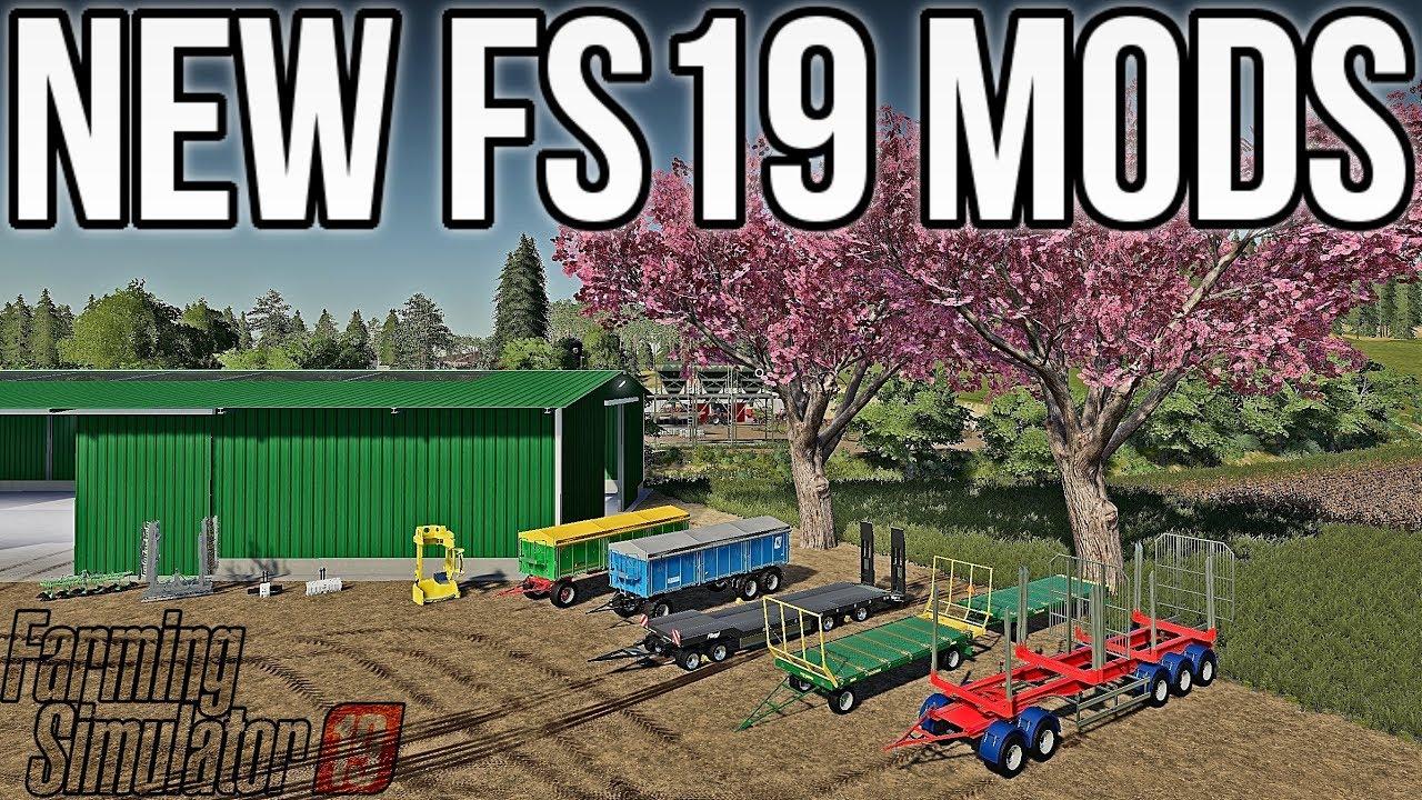 NEW JOHN DEERE LOGGING MOD + LOTS OF NEW & UPDATED MODS FOR FS19!