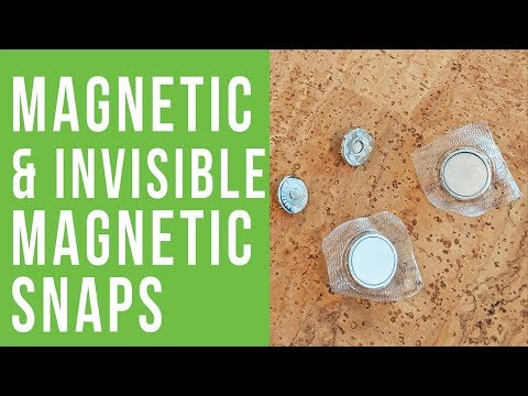 How to Install Magnetic Snaps and Invisible Magnetic Snaps