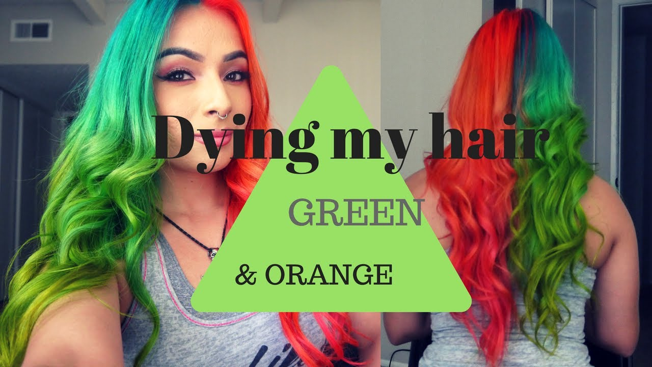 orange and green hair wwwpixsharkcom images