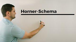 Horner-Schema statt Polynomdivision, Nullstellen bestimmen, Mathehilfe online